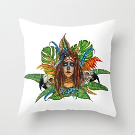 VoodoWitch #1 Throw Pillow