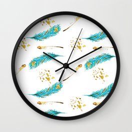 Peacocks a sparkle Wall Clock