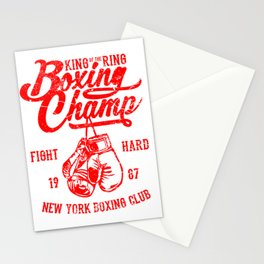 Boxing Champ - King of the Ring Stationery Cards