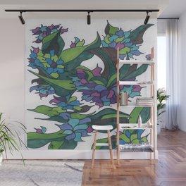Purple Hydrangea Wall Mural