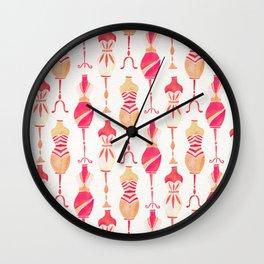 Vintage Dress Forms – Pink Ombré Palette Wall Clock