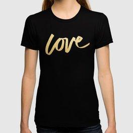 Love Gold White Type T-shirt