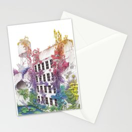Water - Rainbow City - Watercolor Painting Stationery Cards