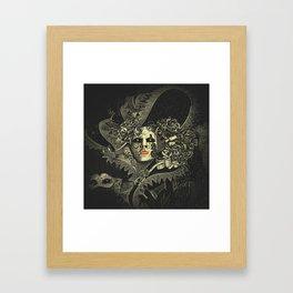 Halloween, baroque Venetian spooky mask Framed Art Print