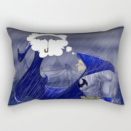 A Dark (and stormy) Knight Rectangular Pillow