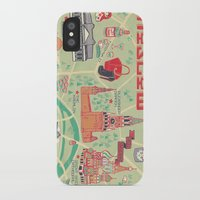 moscow iPhone & iPod Cases featuring Moscow Map by Ashley Ross