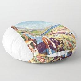1935 Nice France Travel Poster Floor Pillow
