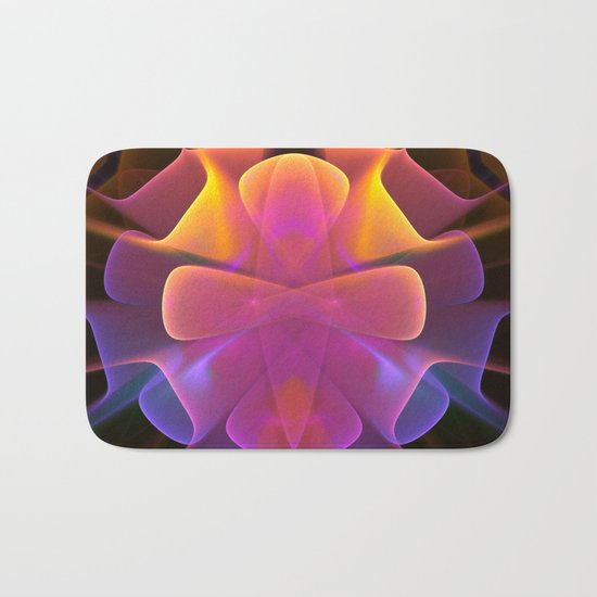 Curves and Colors, geometric abstract Bath Mat