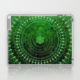 Green Flower Mandala Laptop & iPad Skin