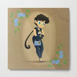Retro Sailor Star Fighter Metal Print