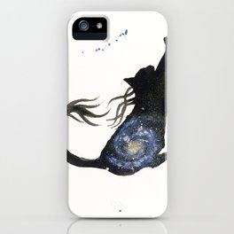 Spiral Galaxy Cat iPhone Case