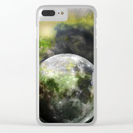 MOON under MAGIC SKY XIII Clear iPhone Case