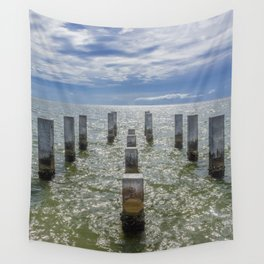 Pieces of an old pier Ship Island, Mississippi Wall Tapestry