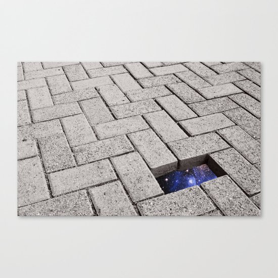 Holes in the Fabric Canvas Print