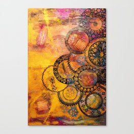 Mandala Be Grateful Canvas Print