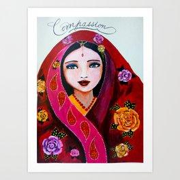 Compassionate heart Art Print