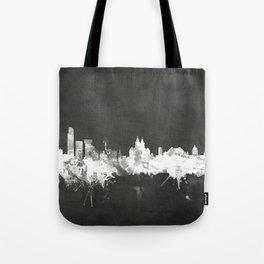 Liverpool England Skyline Tote Bag