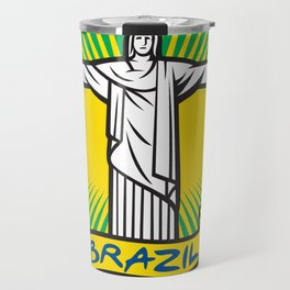 Christ the Redeemer statue in Rio de Janeiro, Brazil Travel Mug