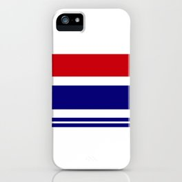 Vintage lines and rectangles geometric design iPhone Case