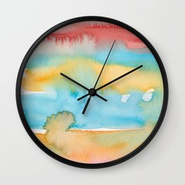 6    | Abstract Minimal Watercolor Painting | 191222 Wall Clock