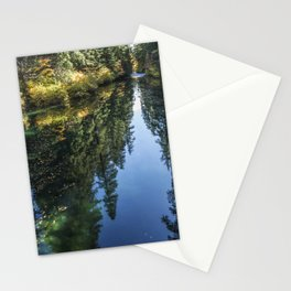 A Watery Avenue of Trees Stationery Cards