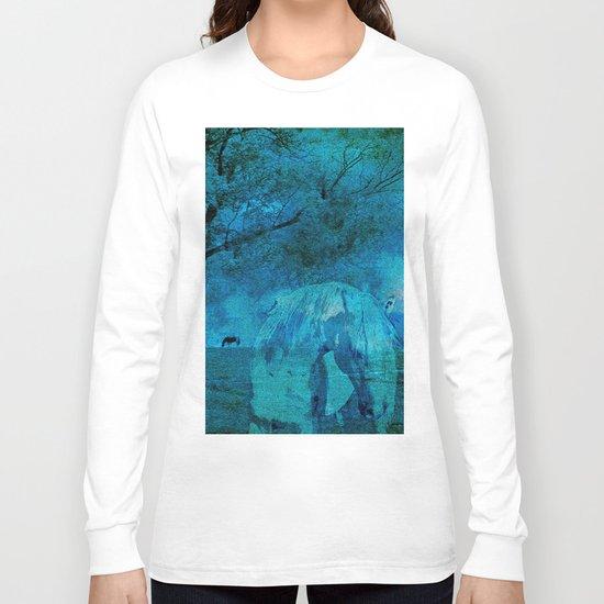DREAM HORSE BLUE Long Sleeve T-shirt
