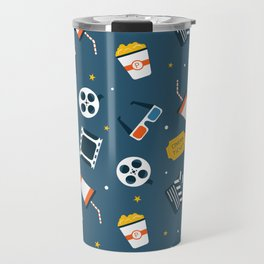 Movie Night Whimsical Pattern Travel Mug