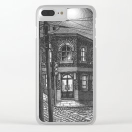 Downhill street Clear iPhone Case