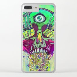 Mana Skull Clear iPhone Case