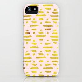 Gold & Light Pink Geometric Pattern iPhone Case