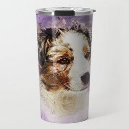 Australian Shepherd - Aussie Puppy Travel Mug