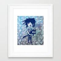 twilight Framed Art Prints featuring twilight by Bunny Noir