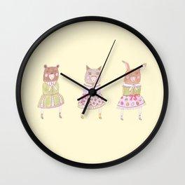 animal lolita girls  Wall Clock