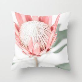 King Protea III Throw Pillow