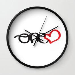 onelove Wall Clock