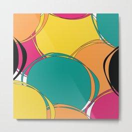 Abstract Circls Metal Print