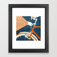 Bicycle Light Framed Art Print