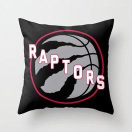 Raptors custom black logo Throw Pillow