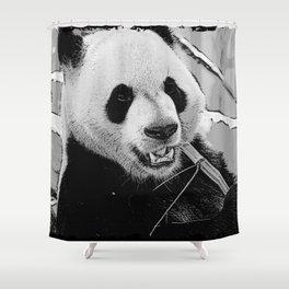 Panda Bear Munchies Shower Curtain