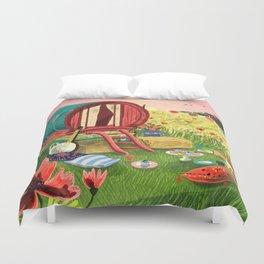 Gypsy Caravan at Sunset Duvet Cover