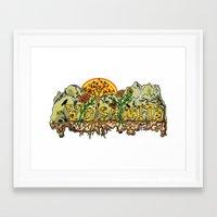 yosemite Framed Art Prints featuring Yosemite  by Geryes