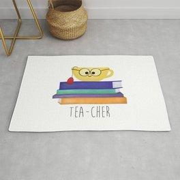 Teacher (Tea Cup And Books) Rug