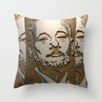 murray Throw Pillows featuring Murray by Blake Byers