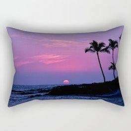 Hawaiian Sunset Over the Pacific Ocean Rectangular Pillow