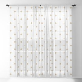 Dotted (Tan & White Pattern) Sheer Curtain