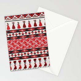 African Tribal Pattern No. 85 Stationery Cards