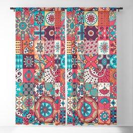 Patchwork Ornaments Blackout Curtain