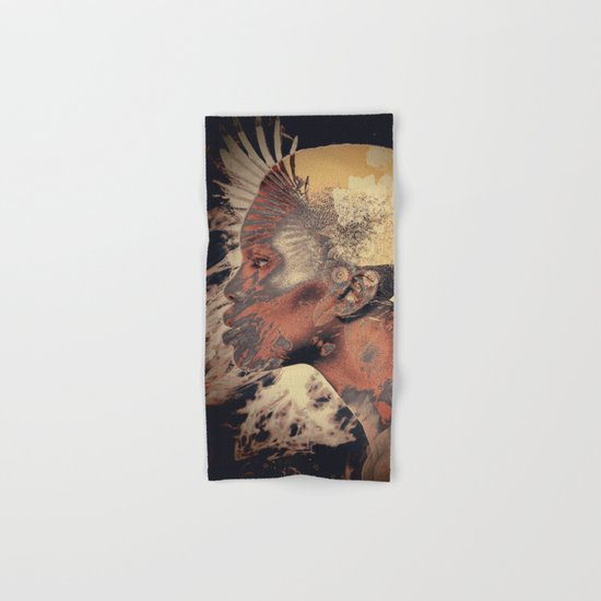 PORTRAIT (Woman and bird) Hand & Bath Towel