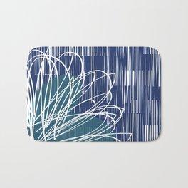Blue Doodle Floral by Friztin Bath Mat