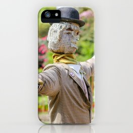 The Lost Gardens of Heligan - Diggory the Scarecrow iPhone Case